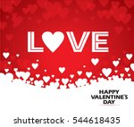 valentine's day   illustration | Shutterstock .eps vector #544618435