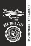 new york manhattan graphic... | Shutterstock .eps vector #544625647