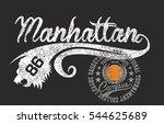new york manhattan graphic... | Shutterstock .eps vector #544625689