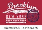 brooklyn graphic design vector... | Shutterstock .eps vector #544626175