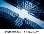 low angle view of skyscrapers... | Shutterstock . vector #544626694