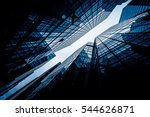 low angle view of skyscrapers... | Shutterstock . vector #544626871