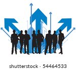 business people directions | Shutterstock .eps vector #54464533