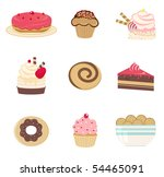 sweet bakery set | Shutterstock .eps vector #54465091