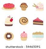 sweet bakery set | Shutterstock .eps vector #54465091