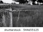 Barbed Wire Fencing With A...