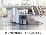 airport security check point... | Shutterstock . vector #544657669