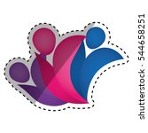 people abstract pictogram icon... | Shutterstock .eps vector #544658251
