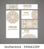 design templates business cards ... | Shutterstock .eps vector #544661209