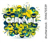 bright vector carnival and sign ... | Shutterstock .eps vector #544670539