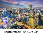 aerial view of bangkok modern... | Shutterstock . vector #544675234