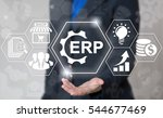 business erp gear web computer... | Shutterstock . vector #544677469