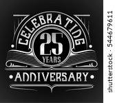 25 years anniversary... | Shutterstock .eps vector #544679611