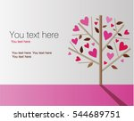 valentine's day background with ... | Shutterstock .eps vector #544689751