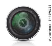 camera photo lens on a white... | Shutterstock .eps vector #544696195