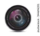 camera photo lens on a white... | Shutterstock .eps vector #544696201