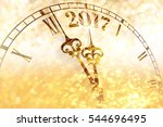 new year clock counting down... | Shutterstock . vector #544696495