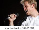 Man Singer Singing Karaoke