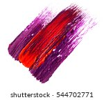 smudged lipstick isolated on... | Shutterstock . vector #544702771
