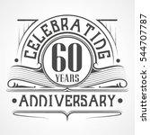 60 years anniversary... | Shutterstock .eps vector #544707787
