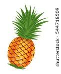 pineapple vector   Shutterstock .eps vector #544718509