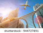 modern business tower with... | Shutterstock . vector #544727851
