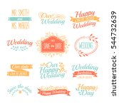 set of wedding vintage retro... | Shutterstock .eps vector #544732639