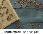 coffee grains forming a frame...   Shutterstock . vector #544734139