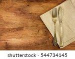 an overhead photo of a vintage... | Shutterstock . vector #544734145