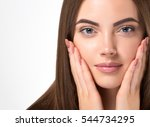 beautiful woman face portrait... | Shutterstock . vector #544734295
