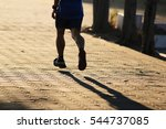 running shoes jogging on the... | Shutterstock . vector #544737085