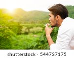 closed up  bearded asian...   Shutterstock . vector #544737175