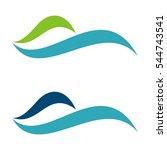 blue water swoosh logo template ...   Shutterstock .eps vector #544743541