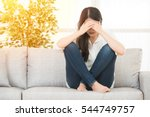 young beautiful woman in... | Shutterstock . vector #544749757
