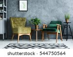 apartment with modern armchairs ... | Shutterstock . vector #544750564