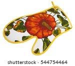 flower kitchen glove | Shutterstock . vector #544754464
