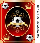 vector football theme on a red... | Shutterstock .eps vector #54475948