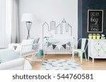 Mild Newborn's Room With White...
