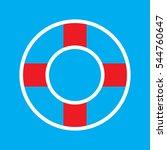 lifebuoy  icon  vector... | Shutterstock .eps vector #544760647