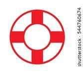 lifebuoy  icon  vector... | Shutterstock .eps vector #544760674