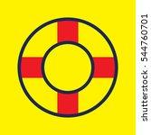 lifebuoy  icon  vector... | Shutterstock .eps vector #544760701