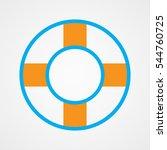 lifebuoy  icon  vector...   Shutterstock .eps vector #544760725