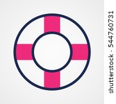 lifebuoy  icon  vector... | Shutterstock .eps vector #544760731
