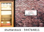 kings road street sign. the... | Shutterstock . vector #544764811