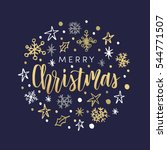 christmas greeting card ... | Shutterstock .eps vector #544771507