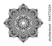 mandala. ethnic decorative... | Shutterstock . vector #544772224
