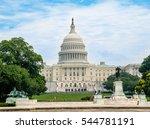 us capitol building in... | Shutterstock . vector #544781191