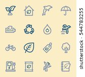green ecology web icons set | Shutterstock .eps vector #544783255