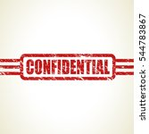 confidential stamp | Shutterstock .eps vector #544783867