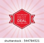 best deal poster. promotion... | Shutterstock .eps vector #544784521